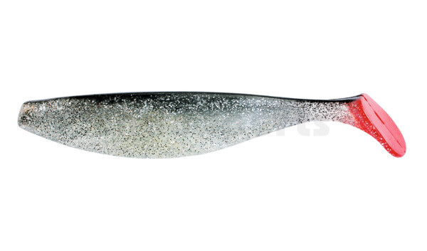 "000418065 ShadXperts´ Xtra-Soft 7"" (ca. 18,0 cm) clear silver-glitter / black"
