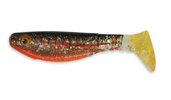 "000208064ZO Kopyto-Nature 3"" (ca. 8,0 cm) clear silver glitter / Zander / belly: orange"