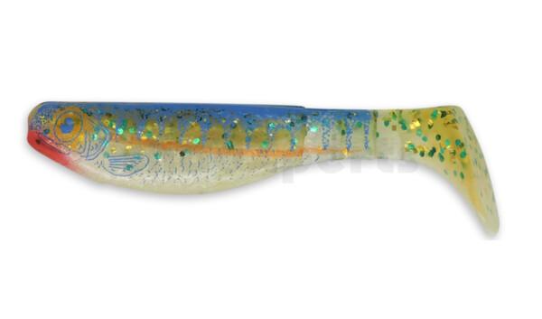 """000208-L516 Kopyto-Nature 3"""" (ca. 8,0 cm) white blue glitter / Zander"""