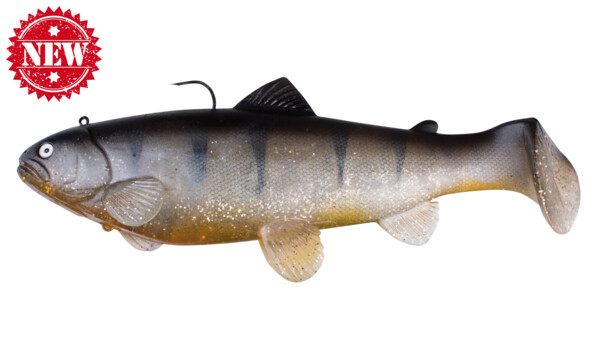 "SBT25SPE Castaic-Swim-Bait-Trout - 10"" (25cm) sinking Silver Spicy Perch"