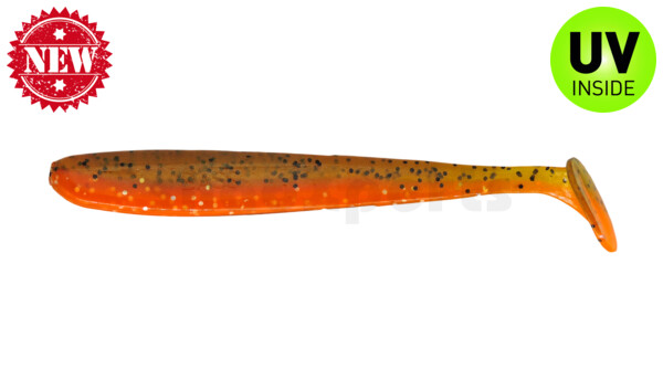"003413B068 Bass Shad 4,5"" (ca. 13 cm) orange-Glitter / olivebrown-Glitter"