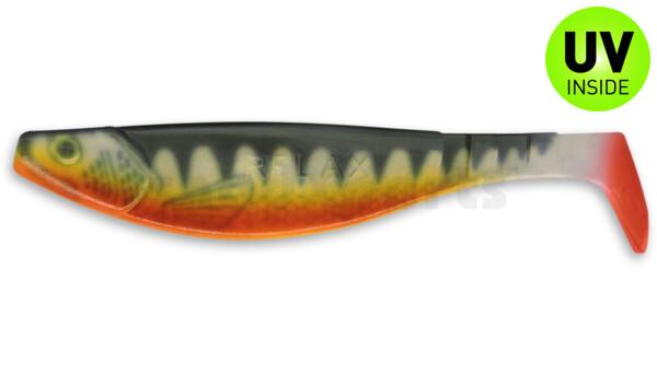 """000216-001ZORT Kopyto-River 6"""" (ca. 16,0 cm) reinweiss / Zander / Bauch: orange / Red Tail"""